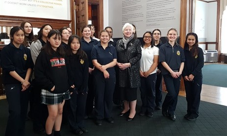 SJC Students Meet Lt Governor